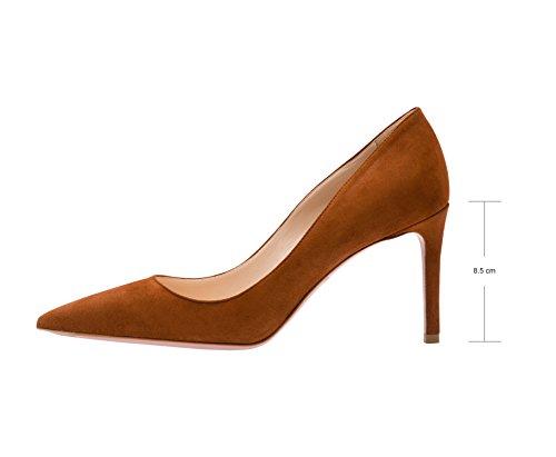 Guoar - Scarpe chiuse Donna Khaki Samt