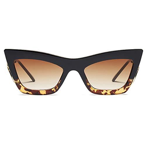 Lvminhm Big Frames Fashion Metal Cat Eye Sonnenbrille Weibliche Uv400 Gradient Color Lens,C1