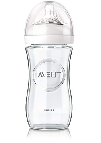 Philips Avent 2X Flasche aus Glas je 240 ml langsamer Nahrungsfluss SCF673-17