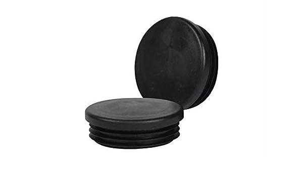 10 Lamellenstopfen 32 mm WS 1-2,5 mm rund Rohrkappen schwarz