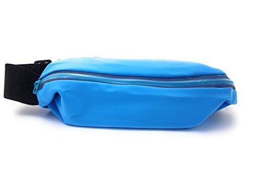 Marsupio Running Iphone X reflectiva impermeabile può essere indossato con cerniera tracolla regolabile Uomo Donna Cinturon Running Iphone X Marsupio Sport iPhone x Marsupio iPhone x blu