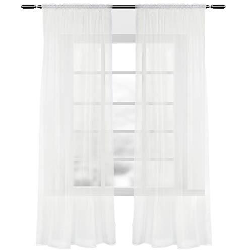 Woltu tende drappeggio con ochielli inox tende trasparenti finestra soggiorno poliestere 2 pannelli crema 140x245cm