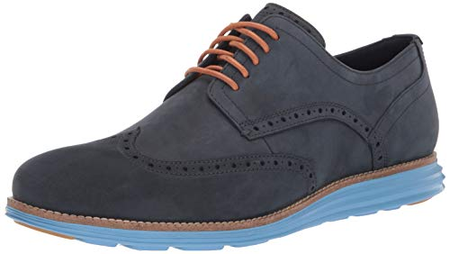 Wingtip Oxford (Cole Haan Herren Original Grand Wingtip Oxfords, Blau Nubuck/Hawthorn Coast Navy Ink/Pacific, 43 EU)
