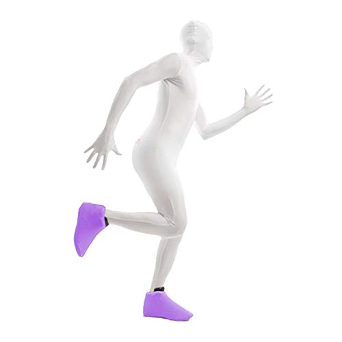 Morphsuits Purple Shoe Covers One Size Colourful Costume ()