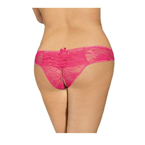 Georgette Slip (Damen Sexy Strings Spitze Unterwäsche Tanga Slips Panties Soft Hipster Frauen Women Unterhosen Elegance Brazil Slip mit Transparenter Blütenspitze)