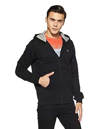 Allen Solly Men's Sweatshirt (ASSTORGPK64027S_Black)
