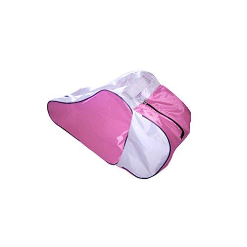 WINOMO Skating Tasche Roller Skate Taschen Oxford Durable Roller Skating Tragetasche Heavy Duty f Skates Tragetaschen mit verstellbarem Schultergurt (Pink) (Heavy-duty-tragetasche)