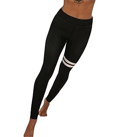 Bekleidung Longra Mode Damen Yoga Workout Gym Leggings Fitness Sport Hose Sporthose (Asian M, Black)