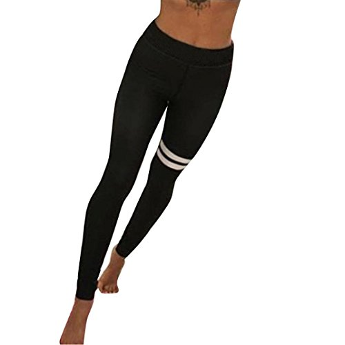 Bekleidung Longra Mode Damen Yoga Workout Gym Leggings Fitness Sport Hose Sporthose (Asian L, Black) (Tight Capri Antwort)