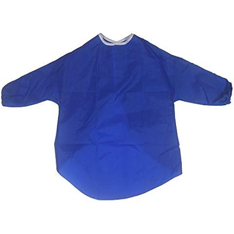 Delantal para niños, artes y manualidades, manga medio, pintura, cocina, 5-7 Años, Azul