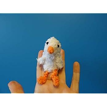 Fingerpuppe Gans handgemacht, Geschenkidee made in Germany