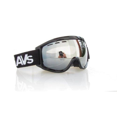RAVS by ALPLAND SNOWBOARDBRILLE STRONG SILBER VERSPIEGELUNG – SKIBRILLE Goggle AUCH für BRILLENTRÄGER INKL.MICROFASERBAG!