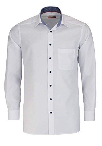 Marvelis Hemd, Modern Fit, Weiß, Extra Langer Arm 69cm, Bügelfrei, New Kent Kragen, 100% Baumwolle (44)
