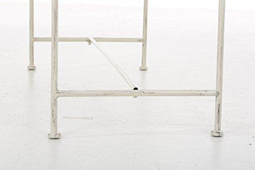 nostalgische Metall-Gartenbank aus Eisen stabil und robust, Farbe Antik creme – Landhaus Sitzbank wetterfest für Garten, Terrasse und Balkon - 9