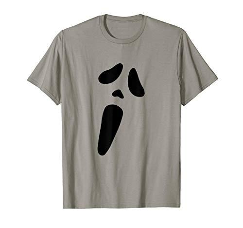 T-Shirt Novelty Halloween Ghost Face tee T-Shirt ()