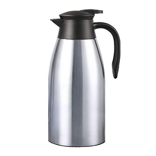 Kaffeekanne, Edelstahl, doppelwandig, Vakuum-Thermoskanne, hält Wasser bis zu 12 Stunden, Getränkespender -