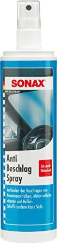SONAX AntiBeschlagSpray (300 ml) Antibeschlag-Schutz für alle Glasscheiben und Kunststoffscheiben sorgt für eine rundum klare Sicht | Art-Nr. 03550410
