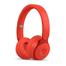 Beats Solo Pro Wireless Noise Cancelling On-Ear Headphones - Apple H1 Headphone Chip, Class 1 Bluetooth, Active Noise Cancelling, Transparency, 22 Hours of Listening Time - Red