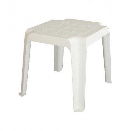 Table basse de jardin empilable en blanc pour hamac mtz1040001