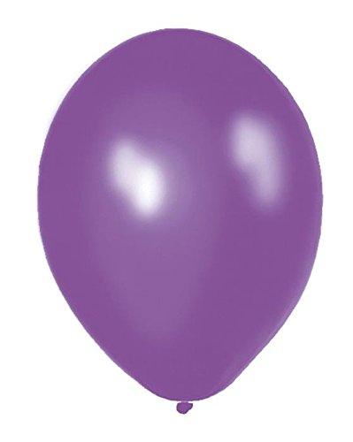 Folat Einfarbige metallic Luftballons lila 50er Pack