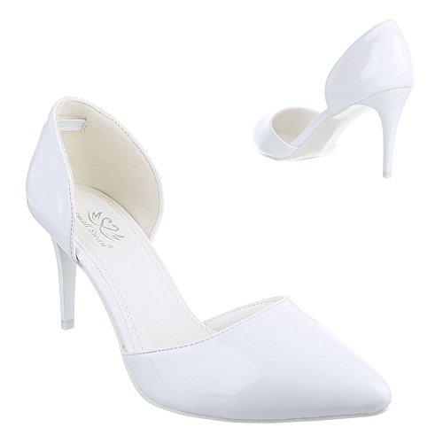 Ital-Design - Scarpe con Tacco Donna , Bianco (bianco), 37