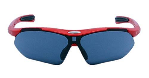 DOLOVE Motorrad Brille Verspiegelt Sonnenbrille Schutzbrille Brillenträger Herren und Damen Rot Grau