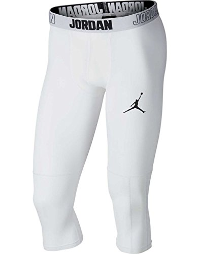 Nike Herren Jordan Dri-FIT 23 Alpha 3/4 Tight, White/Black, M
