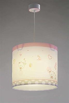 lily & moon Hängeleuchte 62492 Teddy Herz rosa Lampe Kinderzimmer Leuchte Kinderzimmerlampe