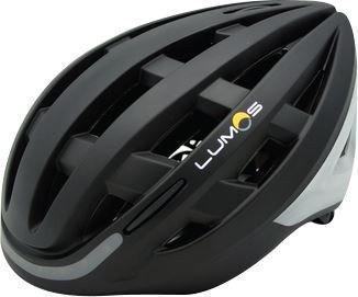 LUMOS KICKSTART Fahrradhelm mit Blinker matt schwarz 54-62cm