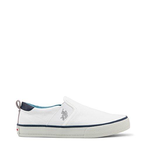 Sneaker Polo in Tessuto con Para in Gomma e Logo Laterale