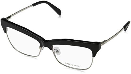Emilio pucci ep5081 occhiali da sole, nero lucido, 55.0 unisex-adulto