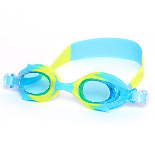 MRFENG Schwimmbrillen für Erwachsene Kinder,Kinderbrille Jungen und Mädchen HD wasserdicht und Anti-Fog-integrierte Form Silikon komfortable Schwimmbrille 6-13 Jahre alt, gelb