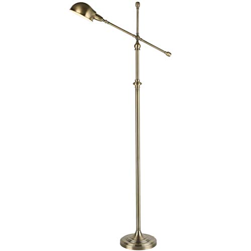 LQFLD Amerikanische Retro-LED-Bodenlampe Wohnzimmer Sofa-Schlafzimmer Angeln Kreative Eisen Kunst Studie Vertikale Standard-Lampe,Bronze