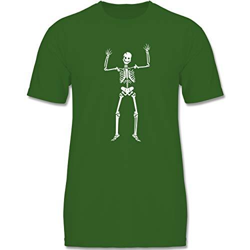 Anlässe Kinder - Skelett Skeleton - 134-146 (9-11 Jahre) - Grün - F140K - Jungen T-Shirt