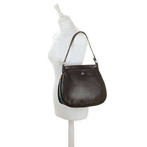 Mywalit , Sac pour femme à porter à l'épaule L Brown Evergreen