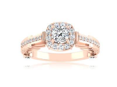 0,84 Karat Natürliche Engagement Diamant Edlen Schmuck Zubehör 14 Karat Rose Real Gold Hochzeit Frauen Ringe Größe 56 (17,8)