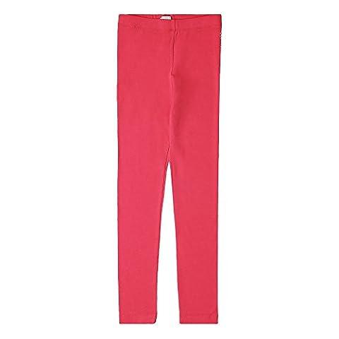 ESPRIT Mädchen Regular Fit Leggings RK24015, Einfarbig, Gr. 128 (Herstellergröße: XS), Rosa (Strawberry 342)