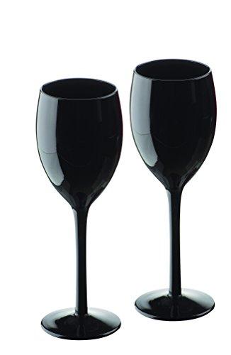 Artland Midnight Set aus 2 Weingläsern, Schwarz