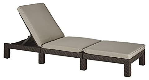 Allibert by Keter Daytona Sunlounger - Brown with Taupe Cushion