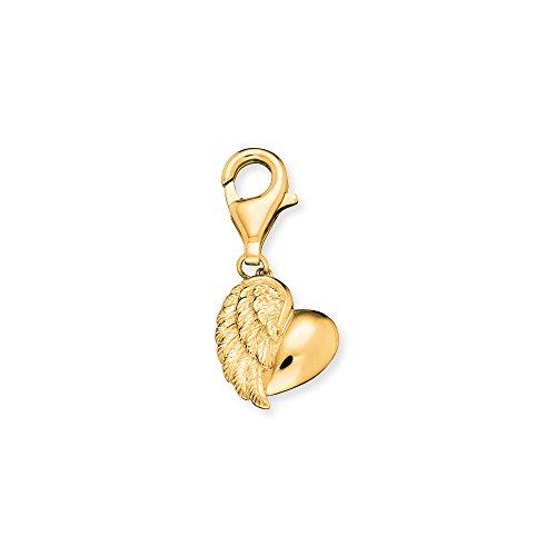 Engelsrufer Herzflügel Charm für Damen vergoldetes 925er-Sterlingsilber Größe 12 mm
