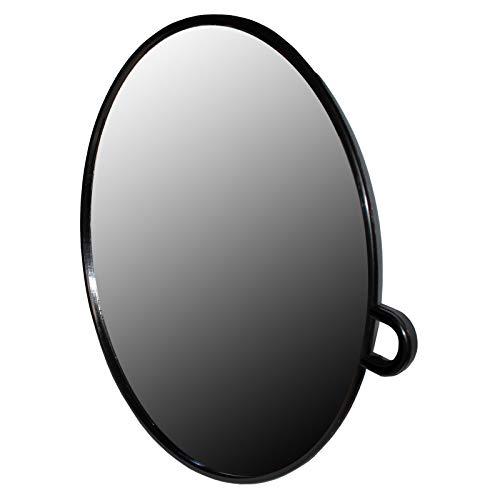 Specchio parrucchiere rotondo nero portatile - specchio leggero foam- specchio professionale parrucchiere - facile da trasportare e tenere in mano per taglio e bellezza