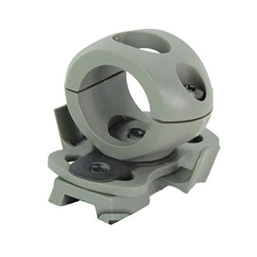 SGOYH Fast Helm-Seitenschiene 30mm Taschenlampe Clamp Halter Halterung Tactical Helmet Zubehör Taschenlampenzubehör (OD) -