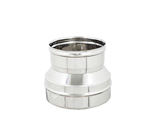 Util.Fer - Reducción/aumento para tubos de chimenea, acero inoxidable AISI 304 6DC,...