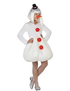 Atosa-32210 Atosa-32210-Disfraz Muñeco Nieve niña Infantil-Talla Navidad, Color Blanco, 7 a 9 años (32210)
