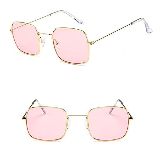 CWYPB Paardurchsichtige Marine Brillenlinse Sonnenbrille, UV-Schutz Sunshade Spiegel Retro männliche männliche Quadramen-Rahmenbrille für den touristischen Strand-Shopping (11 Farben),8