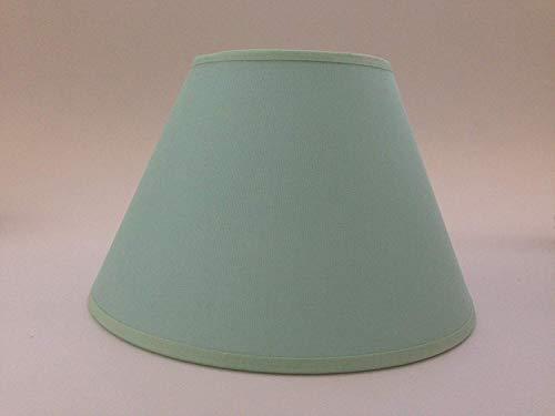 20,3cm hellgrün Baumwolle Stoff Lampenschirm Licht Lampe Tisch handgefertigt