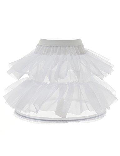Alicepub Kind Weiß Unterrock Blumenmädchen Petticoat Slip 1 Ring Krinoline (Petticoat Kostüme Krinoline Slip)