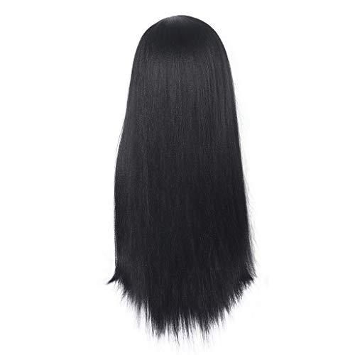 Damen Perücken Neu Perücke Blond Glatt stilvoll Mittler Lang Haar Wigs für Karneval Cosplay Halloween Weiblich