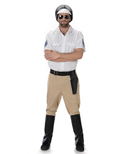 Motorbike Cop Mens Fancy Dress YMCA Police Man Uniform Occupation Adults ()