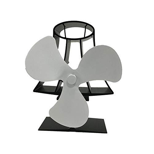 3-Blatt Heizlüfter für Holz/Holzofen/Kamin - Eco - Milky